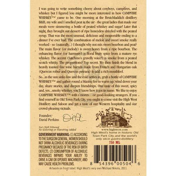 campfire back label