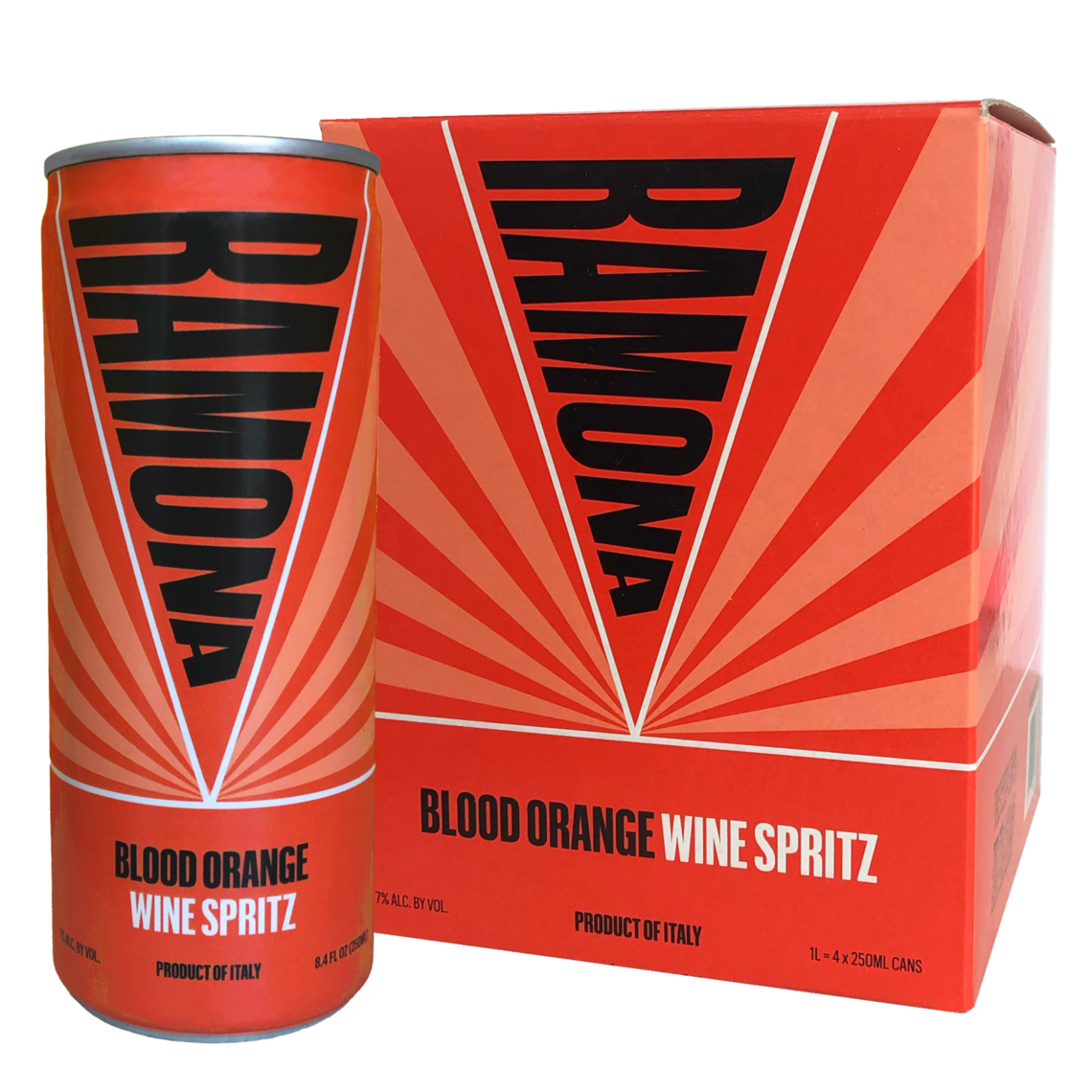 ramona 4 pack can blood orange