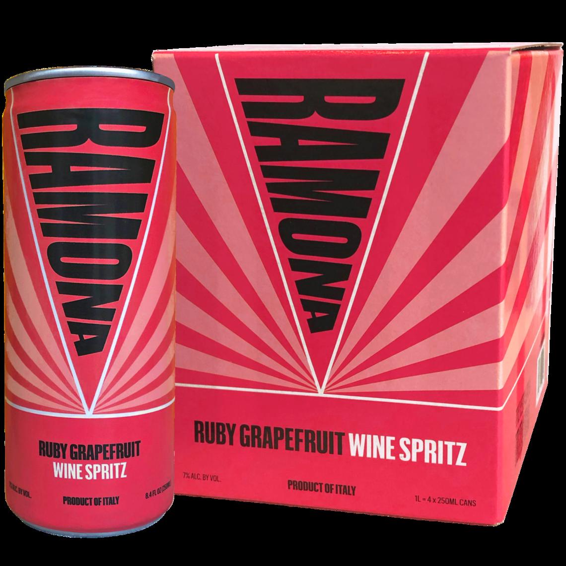 ramona 4 pack can ruby grapefruit