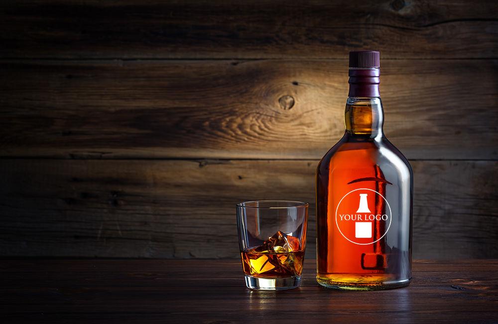 whiskey bottle glass 1
