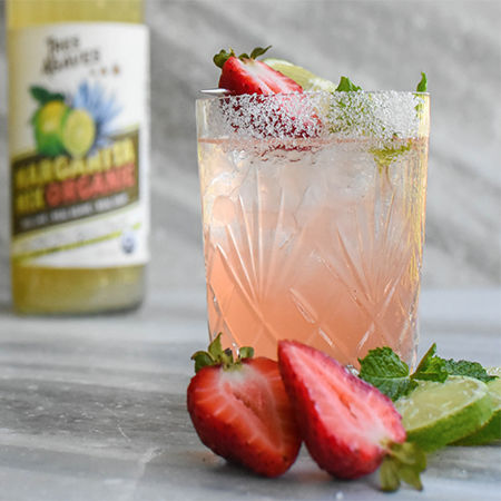 minty strawberry marg recipe