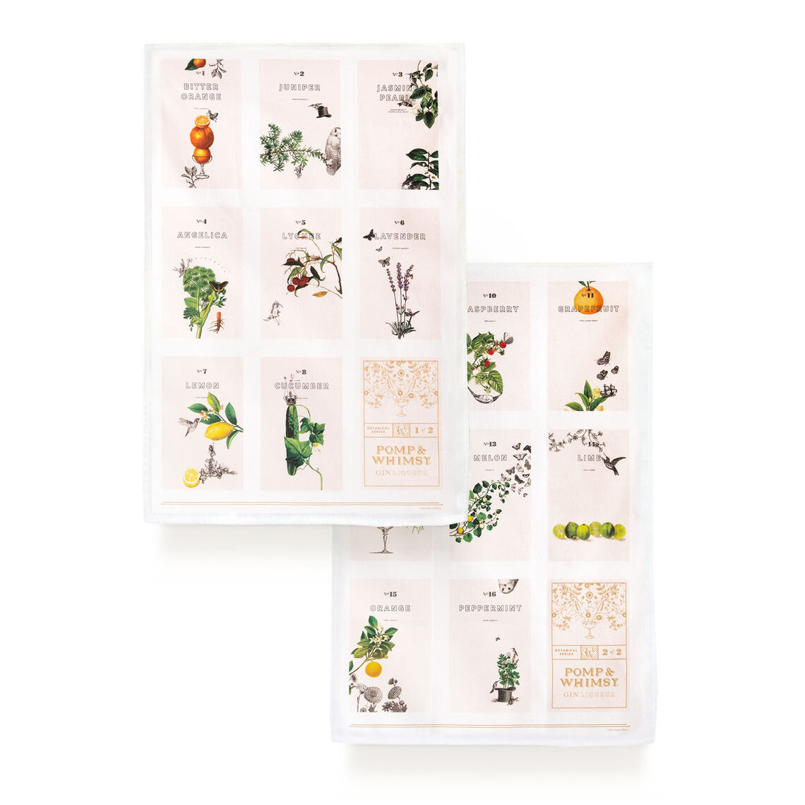 pw shop tea towel botanical set 1sq