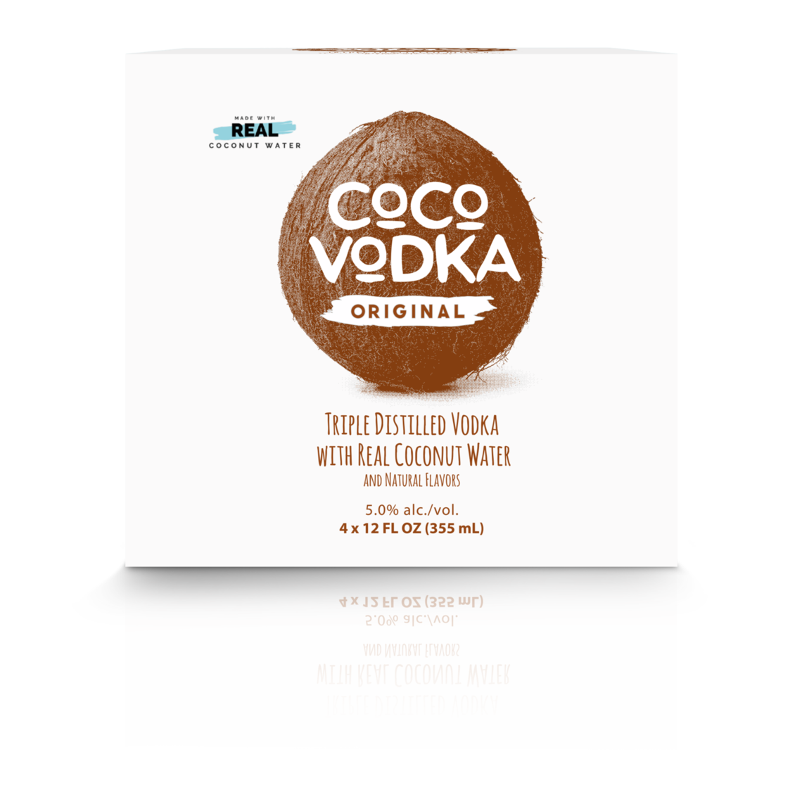 coco vodka 4 pack front view
