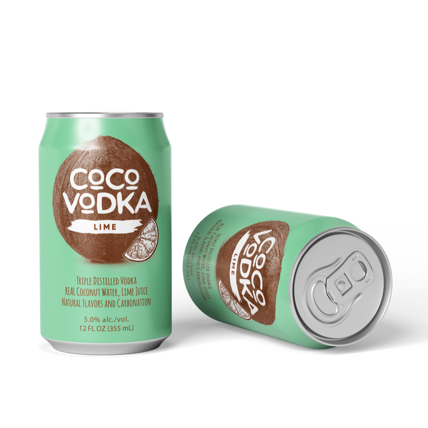 coco vodka lime 2 cans
