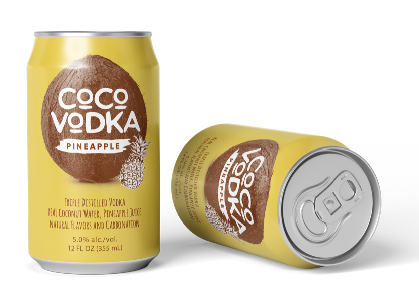 coco vodka pineapple 2 cans