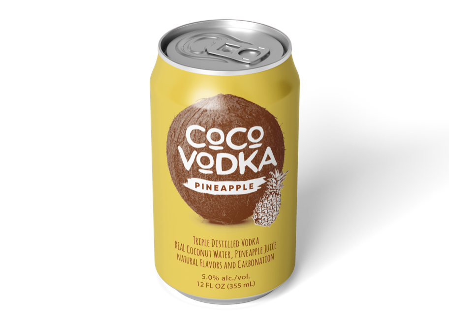 coco vodka pineapple front can